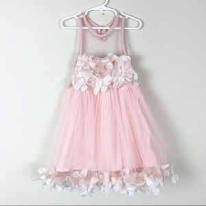 🔥 Baby pink floral detail sleeveless dress